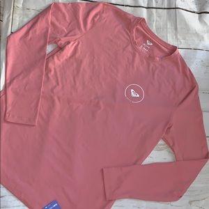 Roxy women's rash guard long sleeve in pink 🌺